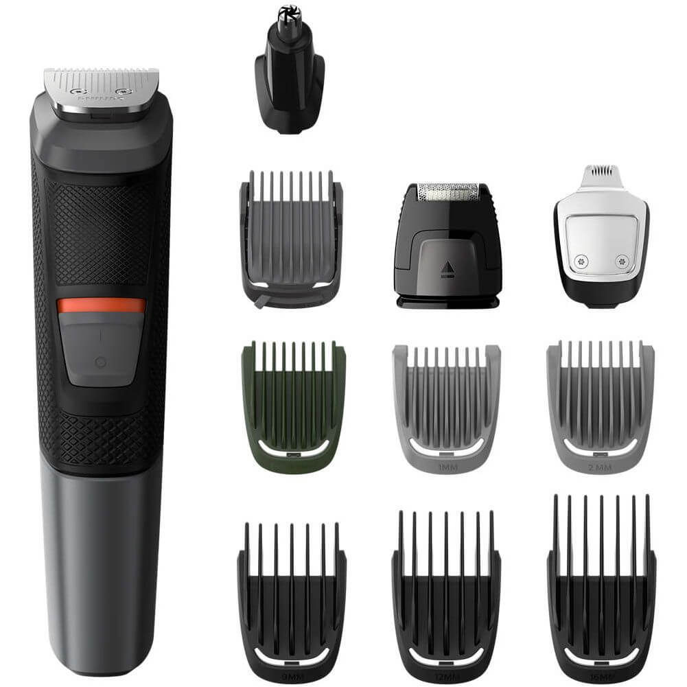 Aparat de tuns barba si parul Philips Multigroom 11 in 1 MG5730/15, Acumulator, 1-16 mm, Negru