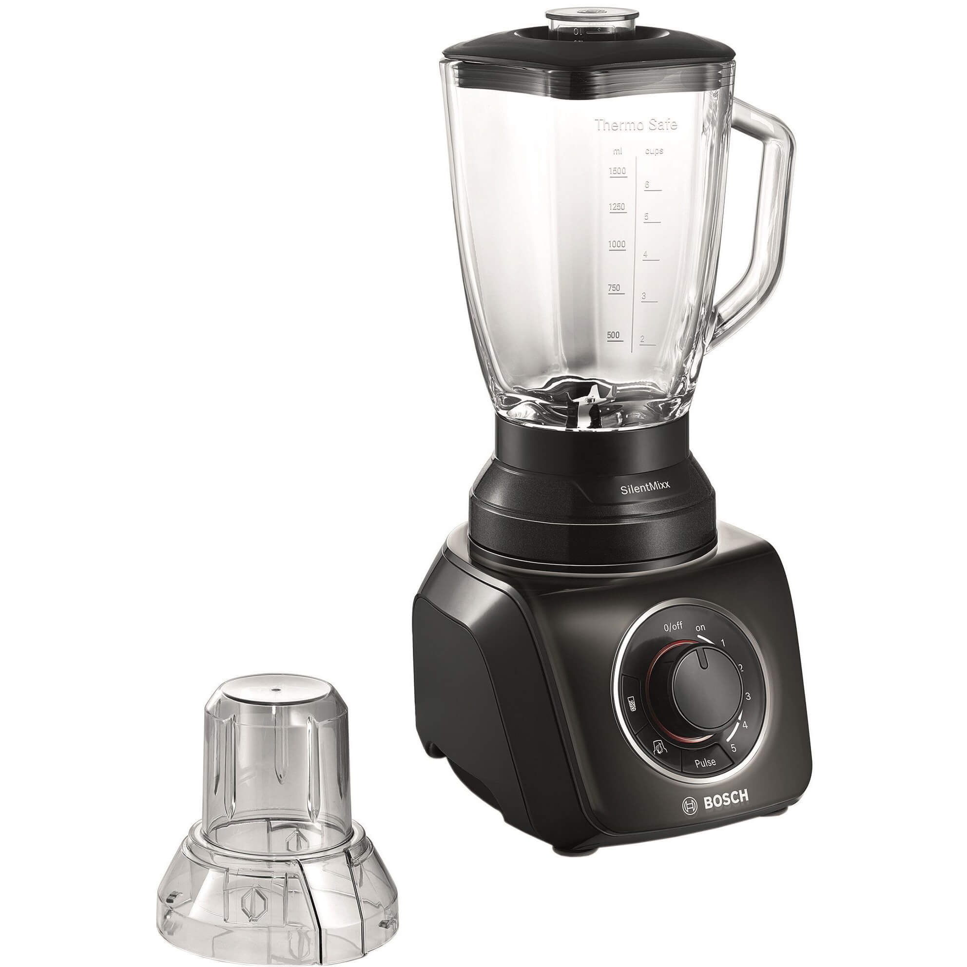 Blender Bosch MMB43G2B, 700 W, 1.5 l, 5 viteze, Negru