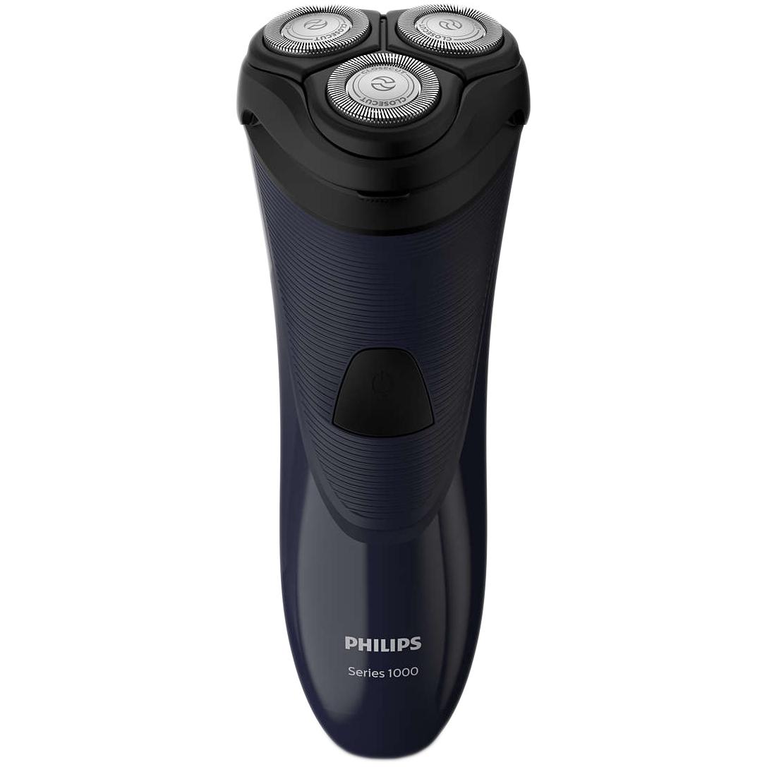 Aparat de ras Philips S1100/04, Cap barbierit cu 3 lame, Albastru