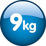 Capacitate de incarcare 9 kg