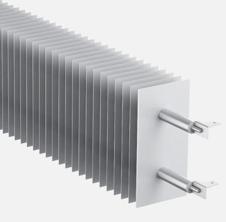 Constructie de inalta eficienta, placata cu aluminiu, de 2.200 W, incalzirea rapida ofera confort instantaneu
