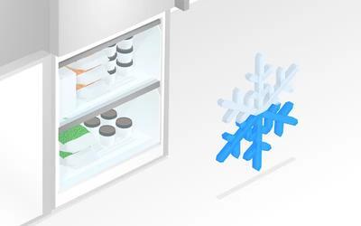 O decongelare mai rara implica mai putina munca si mai multa eficienta energetica.