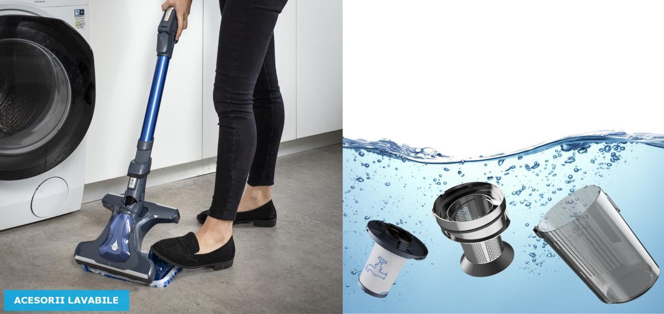 Usor de intretinut datorita accesoriilor lavabile