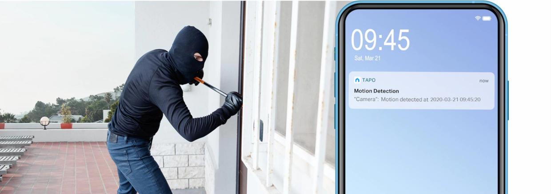 Detecteaza miscari si trimite notificari