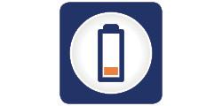 Indicator baterie descarcata si depasire greutate
