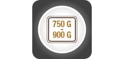 Capacitate 750-900g