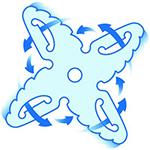 Lama de 4 stele ProBlend pentru amestecare eficienta