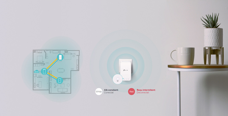 Wi-Fi Plug-in convenabil pentru acoperire suplimentara