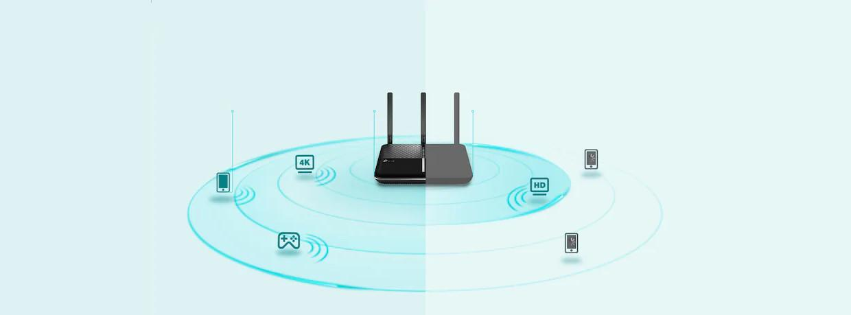 Tehnologia Range Boost pentru acoperire Wi-Fi superioara