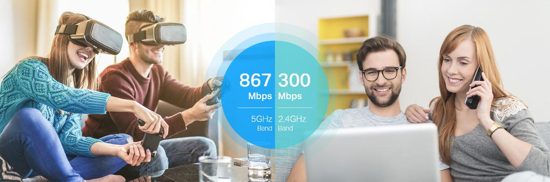 Entertainment fara întreruperi cu Wi-Fi Dual-BAnd AC120