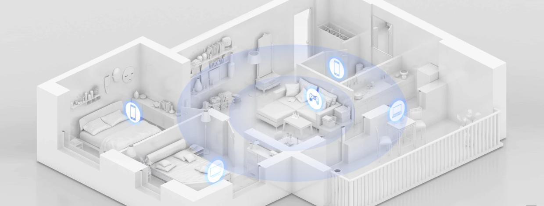 Cu Huawei Wi-Fi 6 Plus, semnalul poate trece mai bine printr-un perete