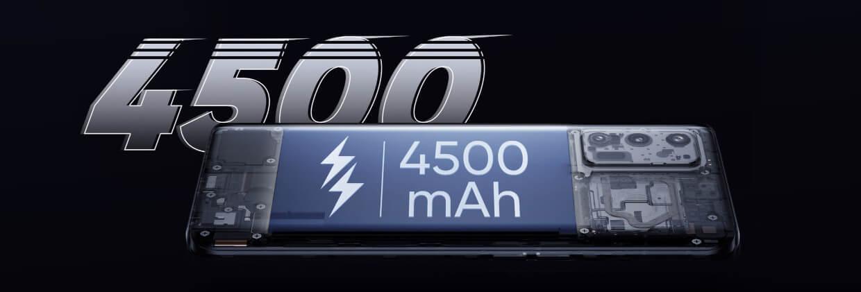 Baterie masiva de 4500 mAh