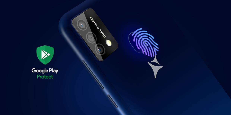 Senzor de amprenta si Google Play Protect