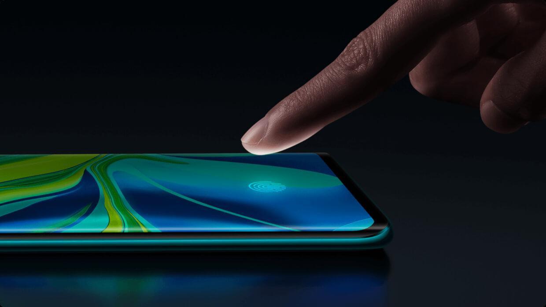 Noul senzor de amprenta in ecran