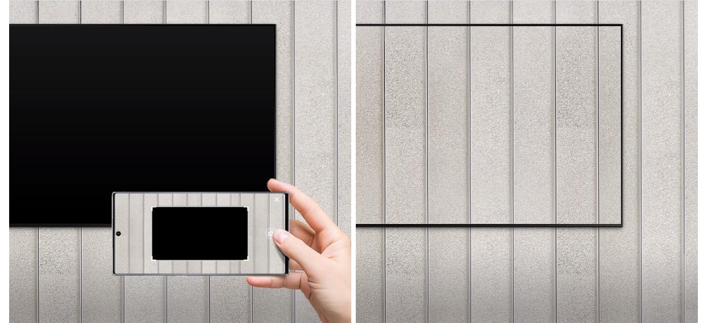 Fara ecranul negru pe perete