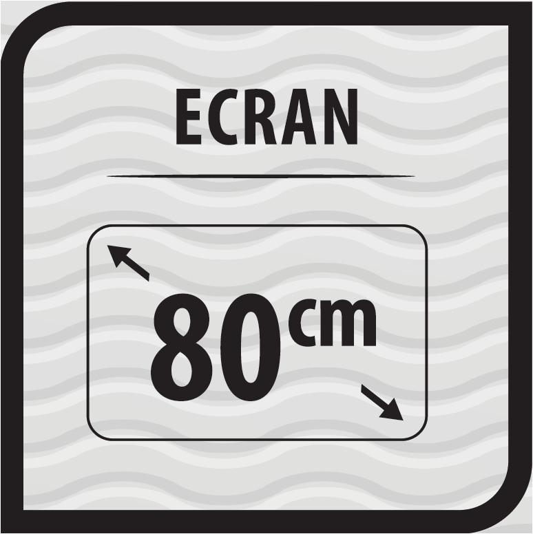 Diagonala de 80 cm